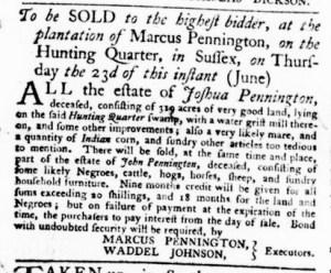 Jun 2 - Virginia Gazette Purdie and Dixon Slavery 3