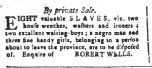 Jun 3 - South-Carolina and American General Gazette Slavery 14
