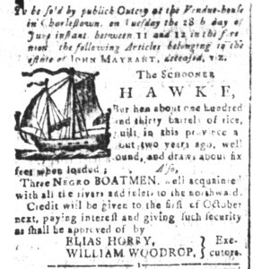 Jun 3 - South-Carolina and American General Gazette Slavery 5