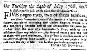 May 16 - South Carolina Gazette Supplement Slavery 3