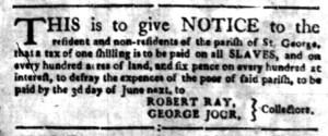 May 16 - South Carolina Gazette Supplement Slavery 6