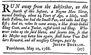May 21 - Providence Gazette Slavery 2