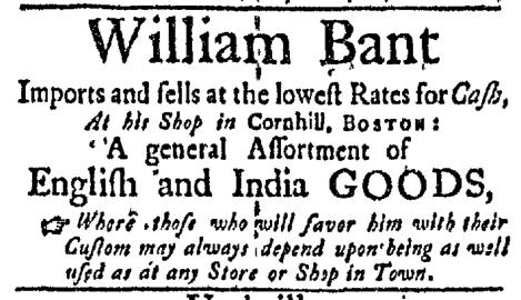 May 23 - 5:23:1768 Boston Evening-Post