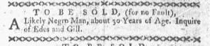 May 23 - Boston-Gazette Slavery 1
