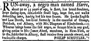 May 23 - New-York Gazette Weekly Mercury Slavery 2