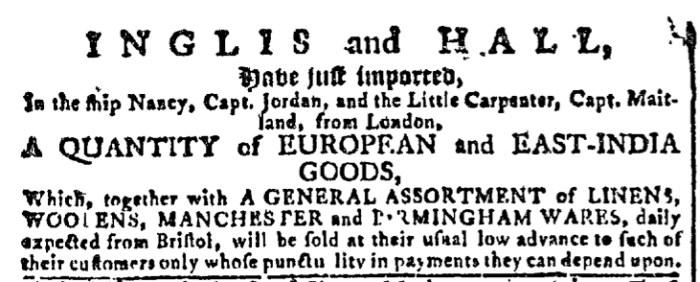 May 25 - 5:25:1768 Georgia Gazette