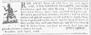 May 25 - Georgia Gazette Slavery 7