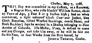 May 26 - Pennsylvania Gazette Supplement Slavery 3