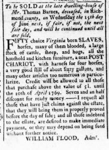 May 26 - Virginia Gazette Rind Slavery 2