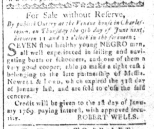 May 27 - South-Carolina and American General Gazette Slavery 5
