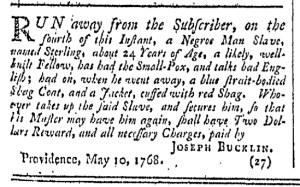 May 28 - Providence Gazette Slavery 1