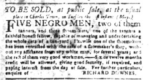 May 30 - South Carolina Gazette Slavery 6
