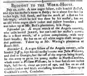 May 31 - South-Carolina Gazette and Country Journal Supplement Slavery 2