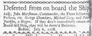 Jul 11 - Boston-Gazette Slavery 2