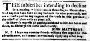 Jul 11 - South-Carolina Gazette Postscript Slavery 1