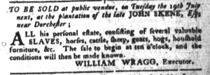 Jul 12 - South-Carolina Gazette and Country Journal Slavery 7