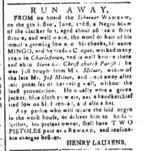 Jul 15 - South Carolina and American General Gazette Slavery 14