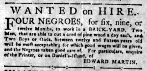 Jul 4 - South-Carolina Gazette Slavery 1