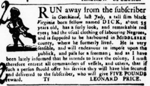 Jul 7 - Virginia Gazette Purdie and Dixon Slavery 3