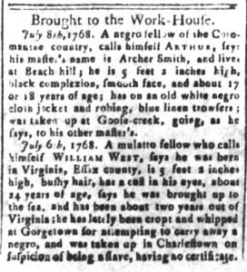 Jul 8 - South Carolina and American General Gazette Slavery 3