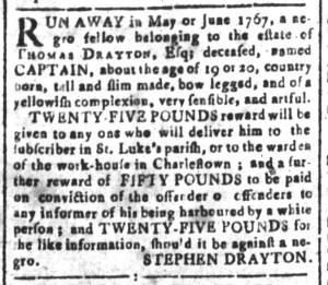 Jun 10 - South-Carolina and American General Gazette Slavery 9
