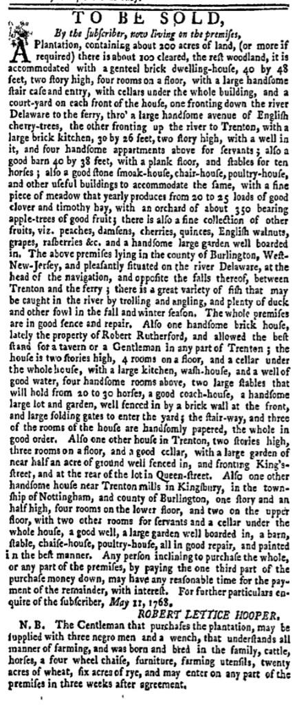 Jun 13 - New-York Gazette Weekly Mercury Slavery 6