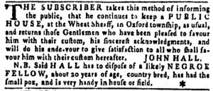 Jun 16 - Pennsylvania Gazette Slavery 1