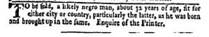 Jun 20 - New-York Gazette Weekly Mercury Slavery 6