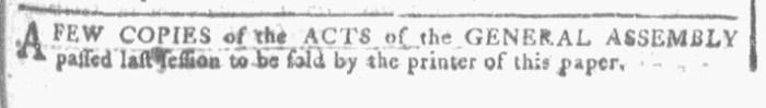 Jun 22 - 6:22:1768 Georgia Gazette