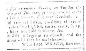 Jun 24 - South-Carolina and American General Gazette Slavery 1