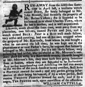 Jun 28 - South-Carolina Gazette and Country Journal Slavery 13