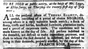 Jun 28 - South-Carolina Gazette and Country Journal Slavery 5
