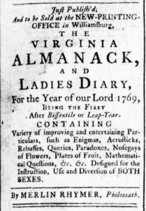 Jun 30 - 6:30:1768 Virginia Gazette Rind