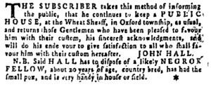 Jun 30 - Pennsylvania Gazette Supplement Slavery 2