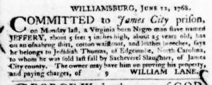 Jun 30 - Virginia Gazette Purdie and Dixon Slavery 9