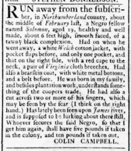 Jun 30 - Virginia Gazette Rind Slavery 2