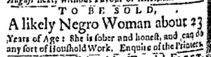 Jun 6 - Boston Evening-Post Slavery 1
