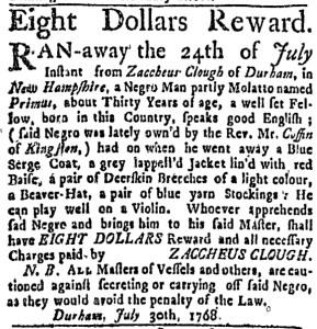 Aug 4 - Boston Weekly News-Letter Slavery 2