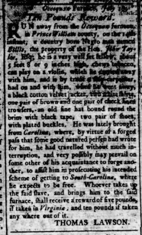 Aug 4 - Virginia Gazette Rind Slavery 3