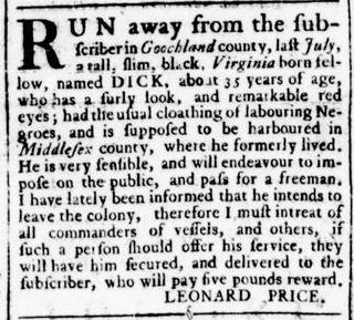 Aug 4 - Virginia Gazette Rind Slavery 9