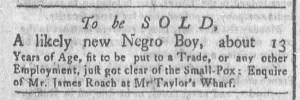 Aug 8 - Newport Gazette Slavery 1