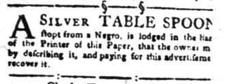 Aug 8 - South-Carolina Gazette Slavery 12