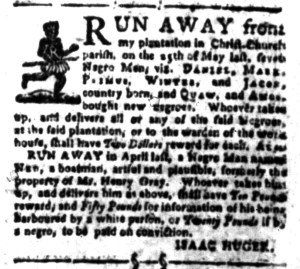 Aug 8 - South-Carolina Gazette Slavery 4