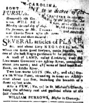 Aug 8 - South-Carolina Gazette Slavery 8