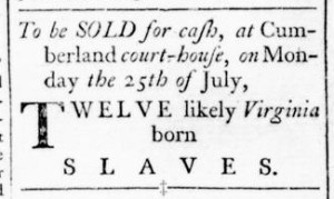 Jul 21 - Virginia Gazette Rind Slavery 3