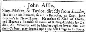 Jul 22 - 7:22:1768 Connecticut Journal