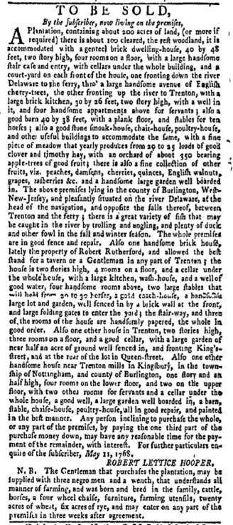 Jul 25 - New-York Gazette Weekly Mercury Supplement Slavery 3