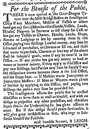Jul 28 - 7:28:1768 Boston Weekly News-Letter