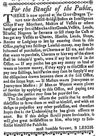 Jul 28 - Boston Weekly News-Letter Slavery 3