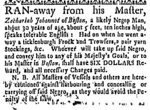 Jul 28 - Massachusetts Gazette Draper Slavery 1